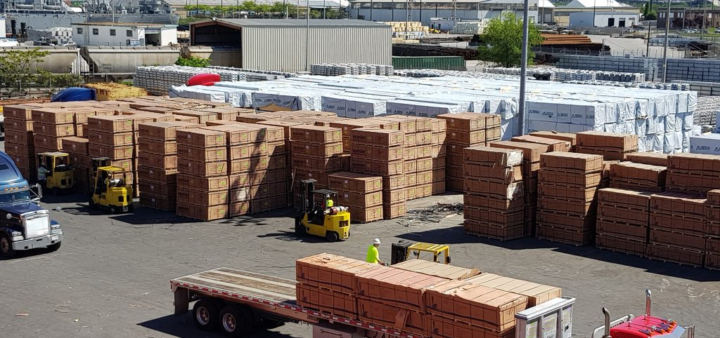 Pallets being loaded